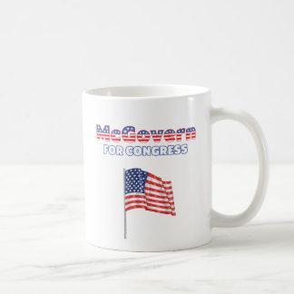 McGovern para la bandera americana patriótica del  Taza Básica Blanca