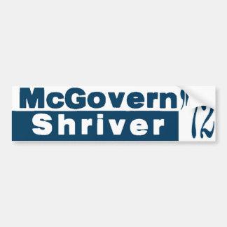 McGovern Shriver 1972 Car Bumper Sticker