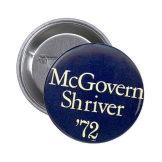 McGovern-Shriver - botón Pins