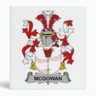 McGowan Family Crest 3 Ring Binder