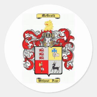 McGrath Classic Round Sticker