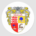 McGrath Coat of Arms (Mantled) Stickers