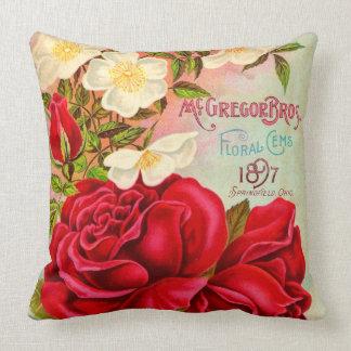 McGregor Bros. Floral Gems Advertisement Throw Pillow
