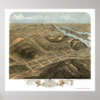 McGregor, IA Panoramic Map - 1869 Poster