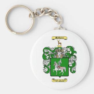 McGuire Basic Round Button Keychain