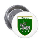 McGuire Coat of Arms/Family Crest 2 Inch Round Button