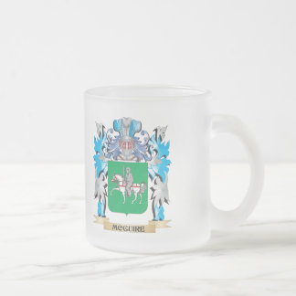 Mcguire Coat of Arms - Family Crest 10 Oz Frosted Glass Coffee Mug