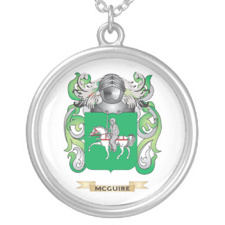 McGuire Coat of Arms (Family Crest) Silver Plated Necklace