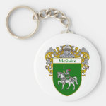 McGuire Coat of Arms (Mantled) Basic Round Button Keychain