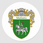 McGuire Coat of Arms (Mantled) Round Sticker