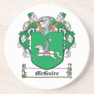 McGuire Family Crest Beverage Coaster