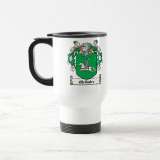 McGuire Family Crest 15 Oz Stainless Steel Travel Mug