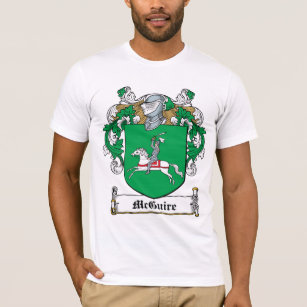 Family crest t shirts shirt designs zazzle mcguire family crest t shirt altavistaventures Images