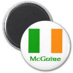 McGuire Irish Flag 2 Inch Round Magnet