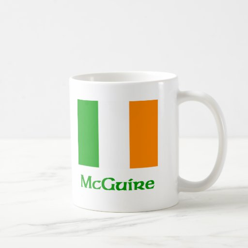 McGuire Irish Flag Coffee Mugs
