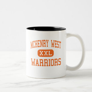 McHenry West - Warriors - High - McHenry Illinois Two-Tone Coffee Mug