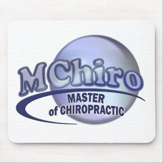 MChiro Master of Chiropractic Medicine Blue Logo Mouse Pad