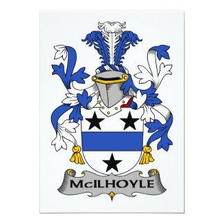McIlhoyle Family Crest Card