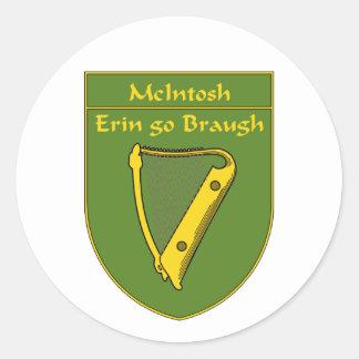McIntosh 1798 Flag Shield Classic Round Sticker