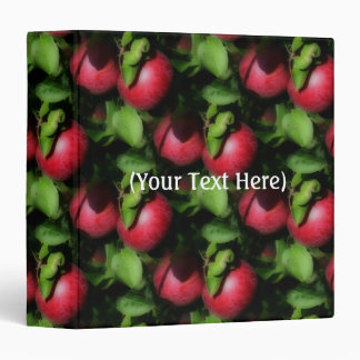 McIntosh Apples On The Tree Nature Pattern 3 Ring Binder