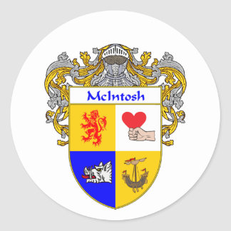 McIntosh Coat of Arms (Mantled) Classic Round Sticker