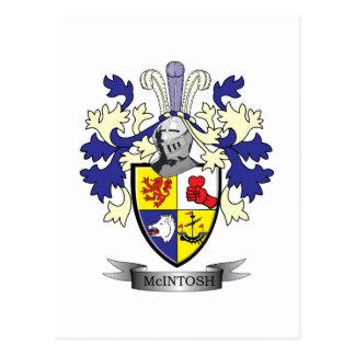 McIntosh Family Crest Coat of Arms Postcard
