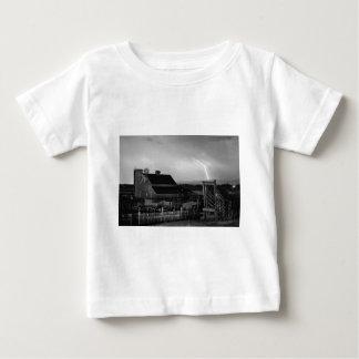 McIntosh Farm Lightning Thunderstorm BW Tee Shirt