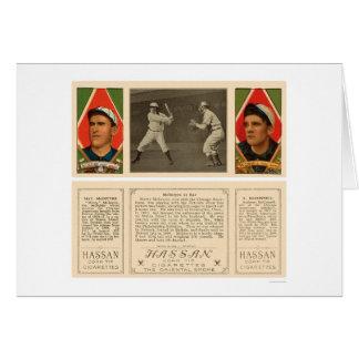 McIntyre At Bat White Sox Baseball 1912 Card