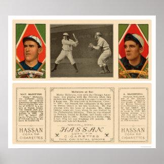 McIntyre en el béisbol 1912 de White Sox del palo Posters