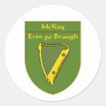 McKay 1798 Flag Shield Classic Round Sticker
