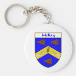 McKay Coat of Arms/Family Crest Basic Round Button Keychain