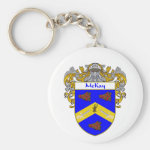 McKay Coat of Arms (Mantled) Basic Round Button Keychain