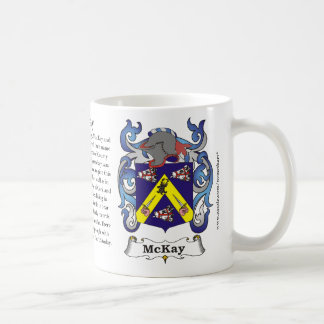 McKay, the origin, the meaning and the crest Coffee Mug