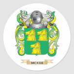 McKee Coat of Arms (Family Crest) Round Sticker