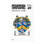 McKee Family Crest Postage Stamps