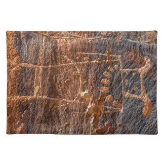 Mckee Springs Petroglyph - Vernal - Utah Cloth Placemat