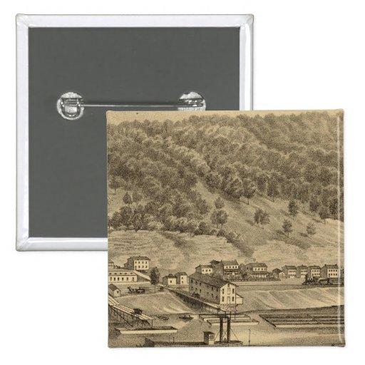 McKeesport Pennsylvania Pin Cuadrada 5 Cm