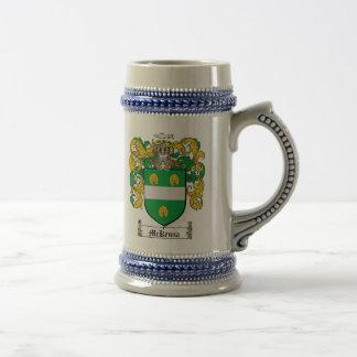 McKenna Coat of Arms Stein 18 Oz Beer Stein
