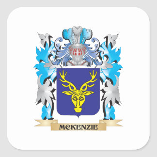 Mckenzie Coat of Arms - Family Crest Square Sticker
