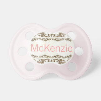 """McKenzie"" Custom Personalized Name Pacifier"