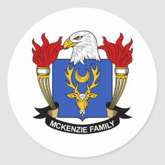 McKenzie Family Crest Classic Round Sticker
