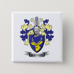 McKenzie Family Crest Coat of Arms Button