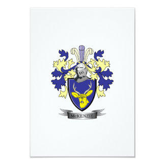 McKenzie Family Crest Coat of Arms Card