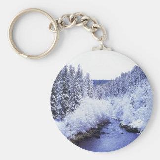 """""""McKenzie River in winter"""" Keychain"""