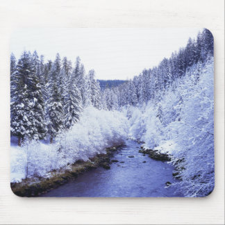 """McKenzie River in winter"" Mouse Pad"