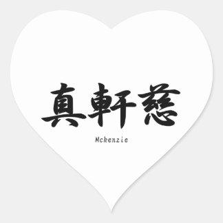 Mckenzie translated into Japanese kanji symbols. Stickers