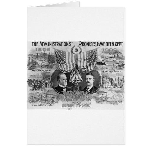 Mckinley 1900 - Roosevelt Tarjeta De Felicitación