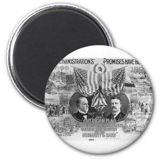 Mckinley 1900 - Teddy Roosevelt Imán Redondo 5 Cm