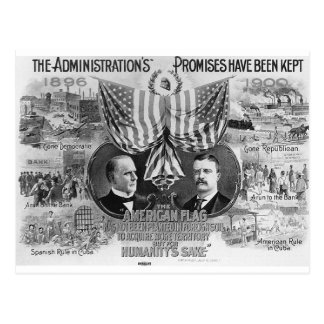 Mckinley 1900 - Teddy Roosevelt Tarjeta Postal