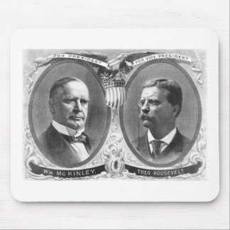 McKinley and Roosevelt Election Poster Mouse Pad